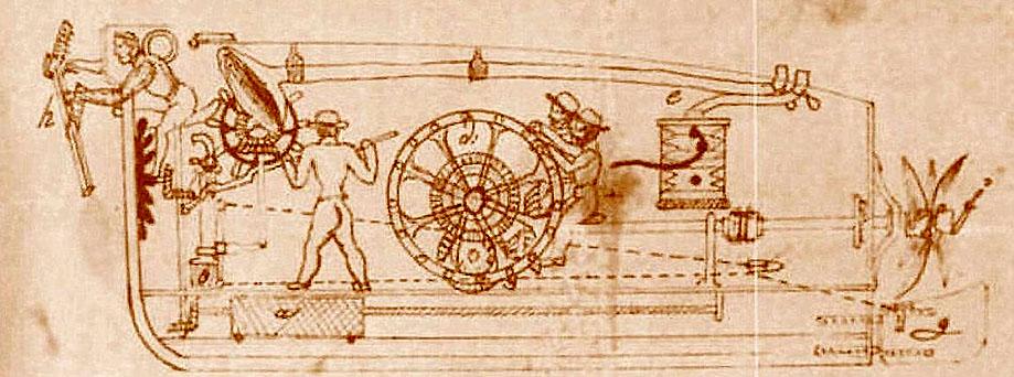 Древняя субмарина для рукопашного боя