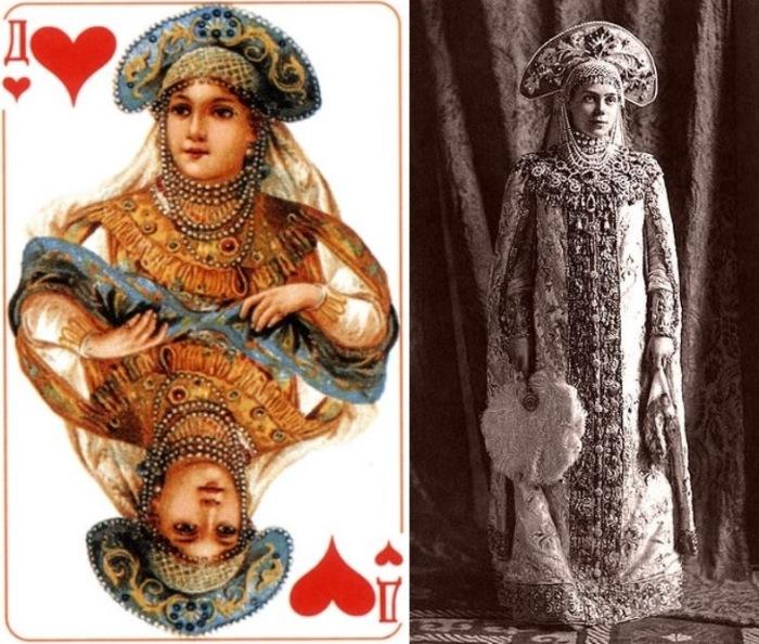 Кто из императорской семьи скрывался за рисунками на популярной колоде игральных карт