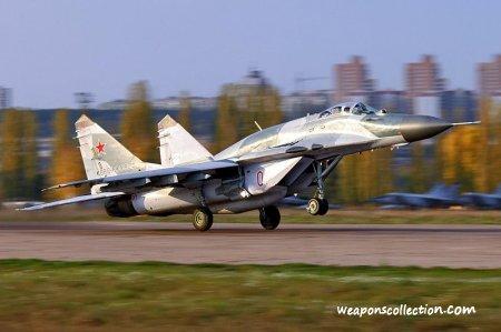 Взлет МиГ-29 с трамплина сняли на видео...