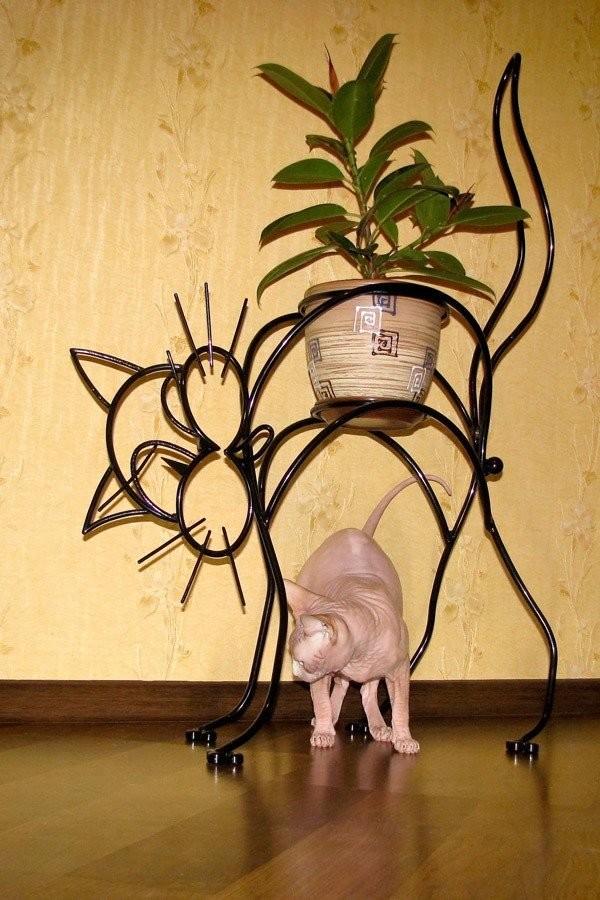 Подставка под цветы своими руками из метала