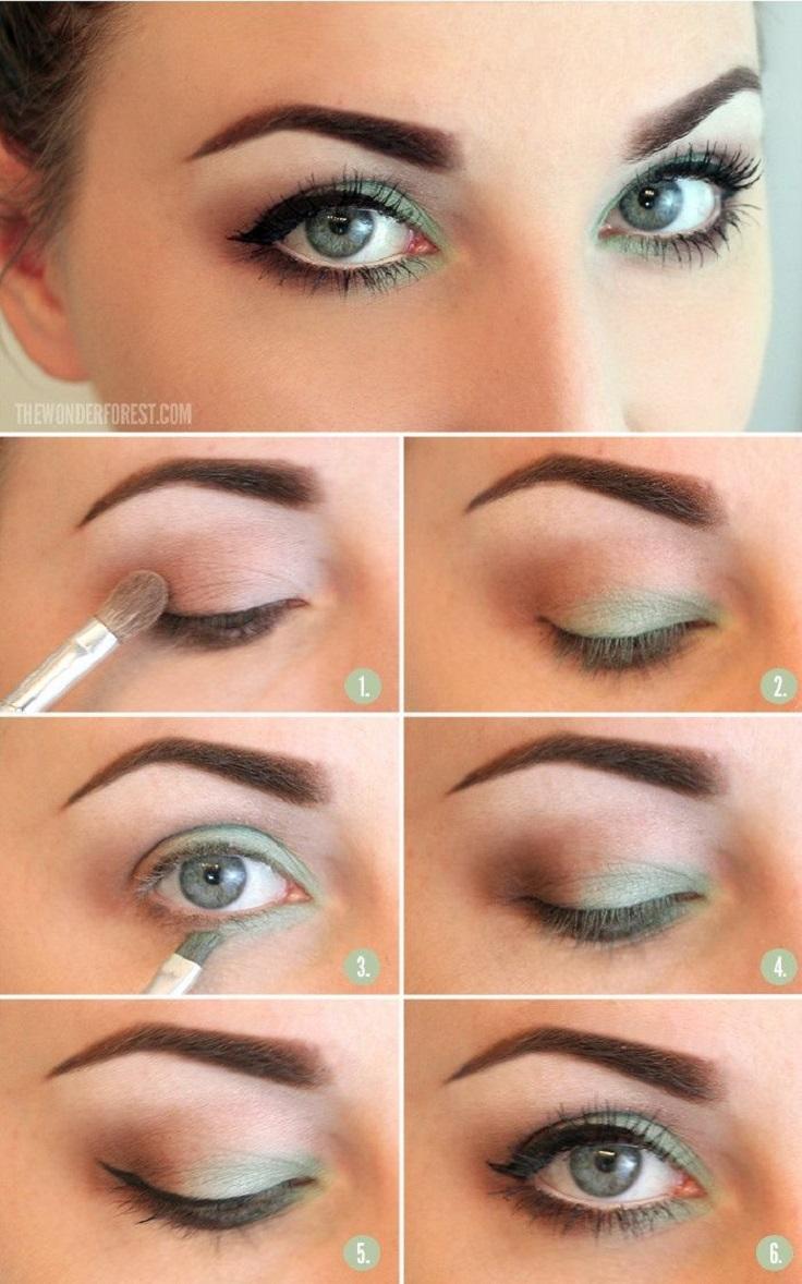 Легкий летний макияж глаз