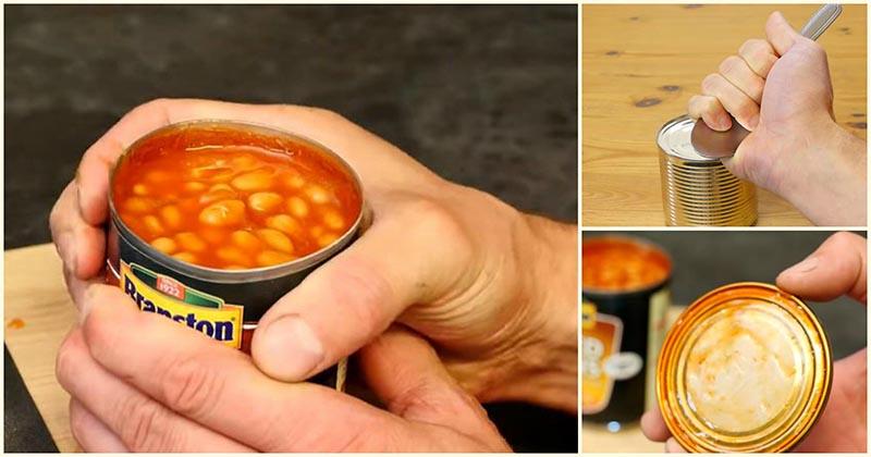 Как открыть консервную банку без ножа? Две гениальные хитрости