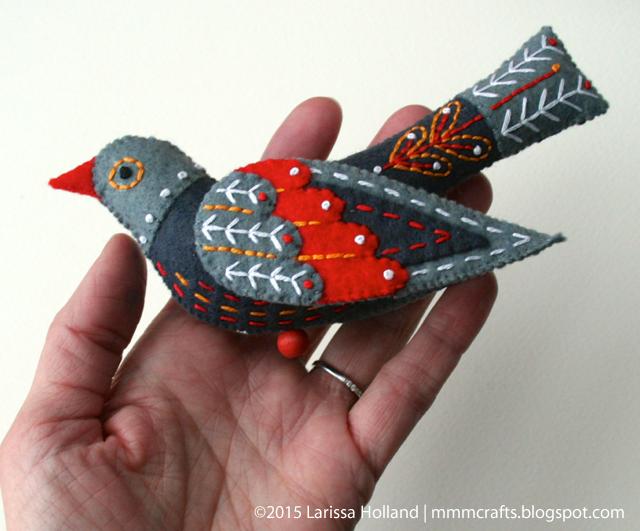 Райские птицы из фетра. Идеи (5) (640x531, 1395Kb)