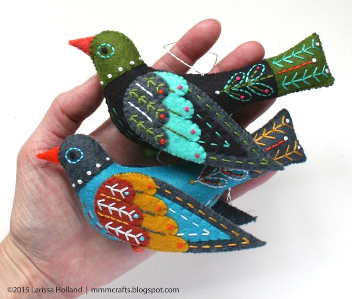 Райские птицы из фетра. Идеи (6) (700x594, 627Kb)