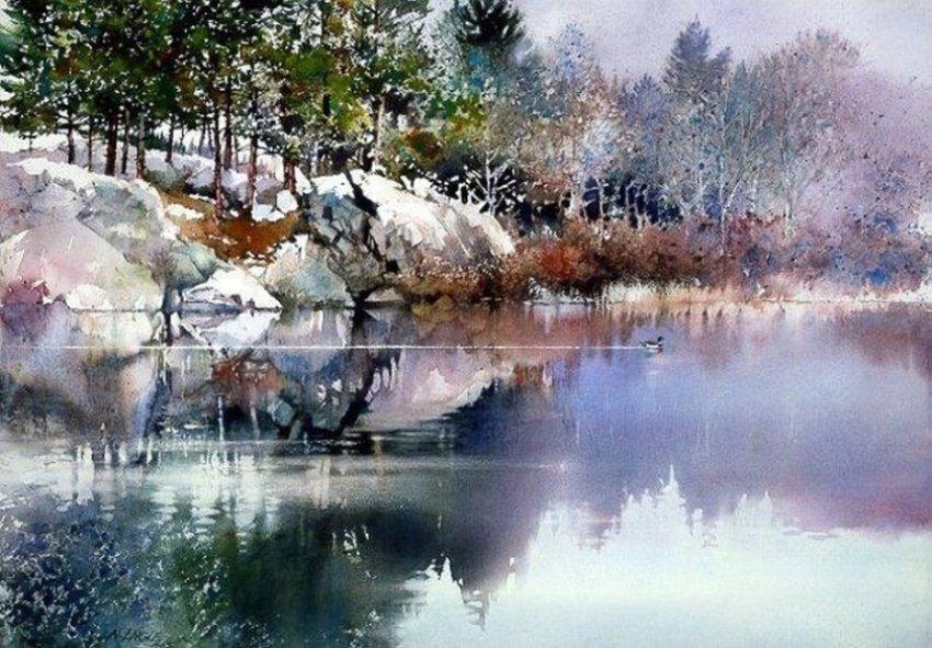 Акварельные пейзажи Ниты Энгл