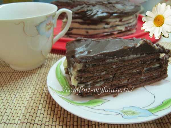 Торт медовик шоколадный