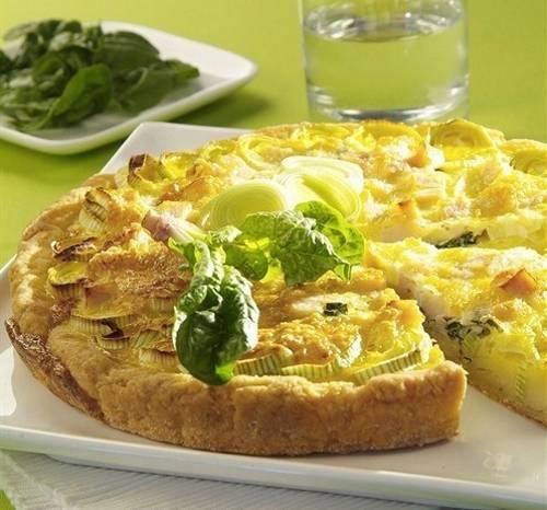 Сырный пирог с луком-пореем – рецепт с фото
