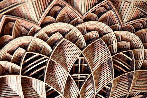 Замысловатая и изящная резьба по дереву от Габриэля Шама