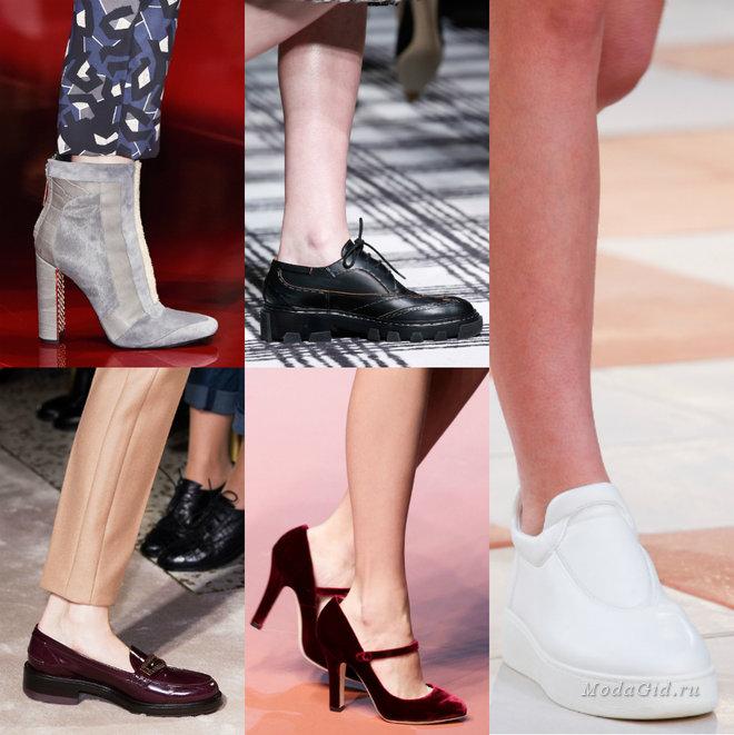 Модная обувь осень-зима 2015-2016 - тенденции