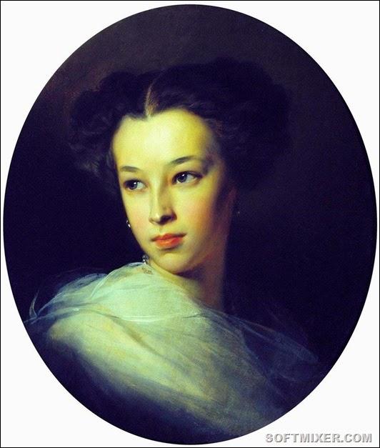 Ivan_K_Makarov-Natalia_Alexandrova_Pushkina,1849