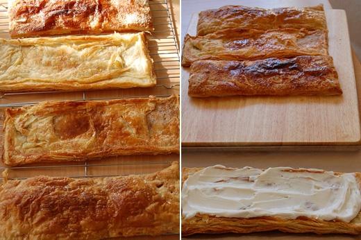 Торты со слоеным тестом и сливками