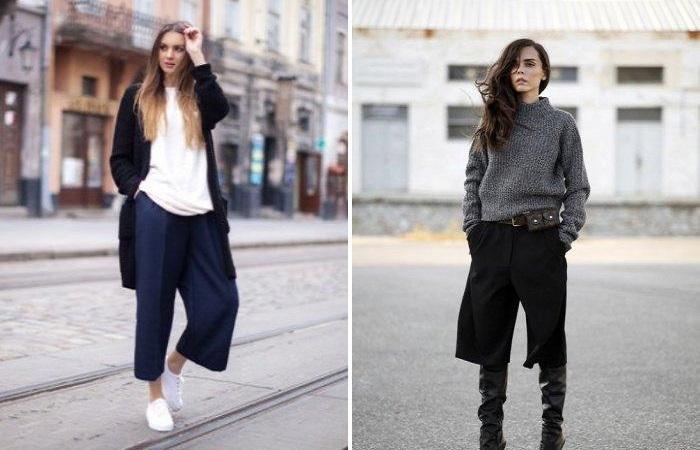 Как и с чем носить модные брюки-кюлоты