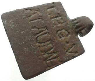 """Римский легионерский жетон первой половины 1 век н э. Пятый легион набранный Цезарем в Галлии """"Жаворонок"""""""