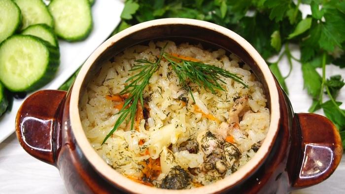 Рис с курицей в горшочках Рис, Видео, Кулинария, Еда, Видео рецепт, Длиннопост