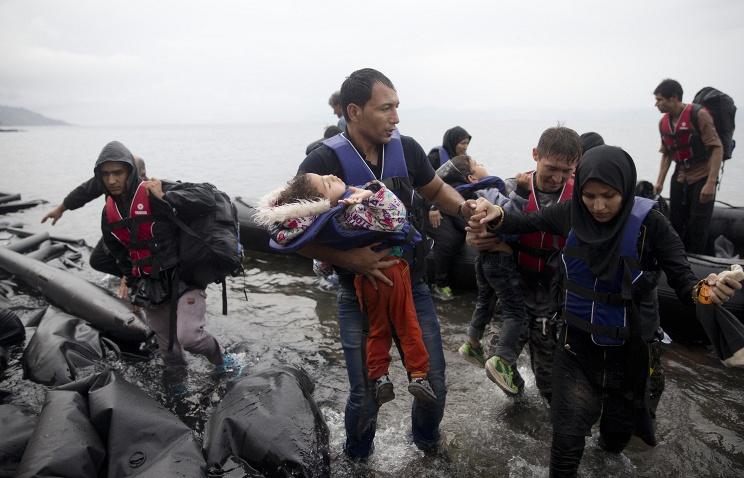 Прибытие мигрантов на остров Лесбос. 23 сентября