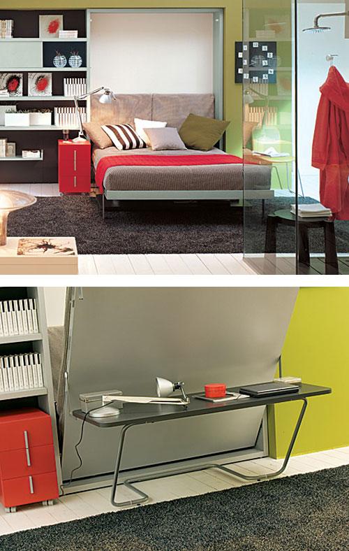 Как спрятать кровать в маленькой квартире