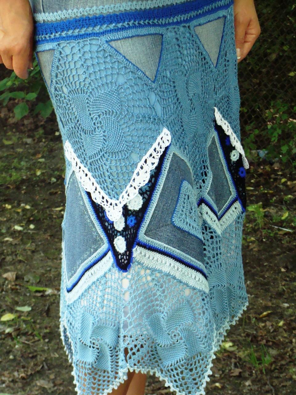 Мастер класс комбинирование вязание с тканью