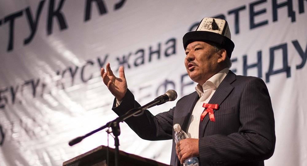 """Киргизский """"бульдозер революции"""" взялся за русский язык"""