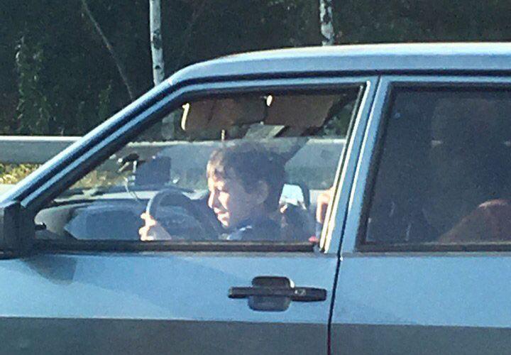 Ребенок управлял автомобилем на кольцевой дороге в Петербурге