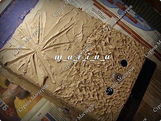 Декор предметов Мастер-класс Ассамбляж Почтовый ящик в технике Терра МК Гипс Краска Материал природный фото 13