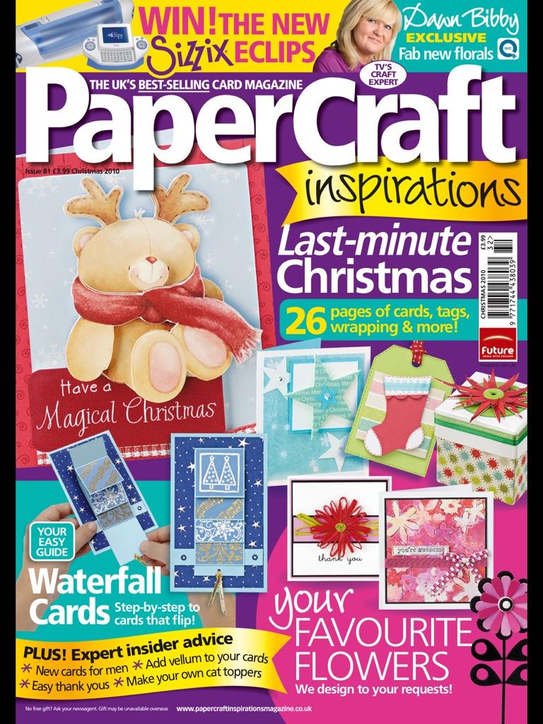 Английский журнал по изготовлению открыток PaperCraft Inspirations 13 (81) 2010 Christmas