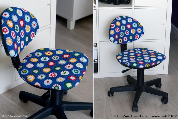 """Новая """"одежда"""" на компьютерное кресло. Идея + МК"""