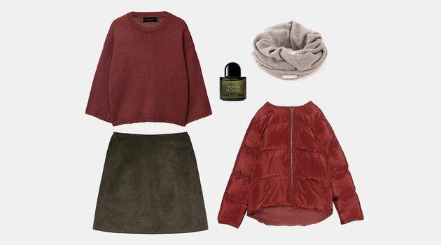 Одна вещь - три образа: замшевая юбка