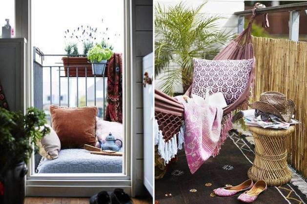 Балконы, Балкон, веранда, патио,  прочие стили,  Черный, Серый, Светло-серый, Розовый, Бежевый,