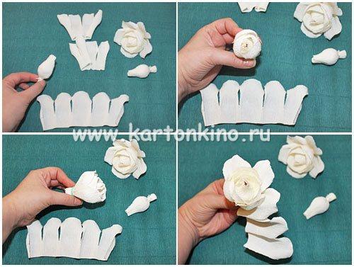 Как сделать цветы из гофрированной бумаги своими руками мастер класс видео