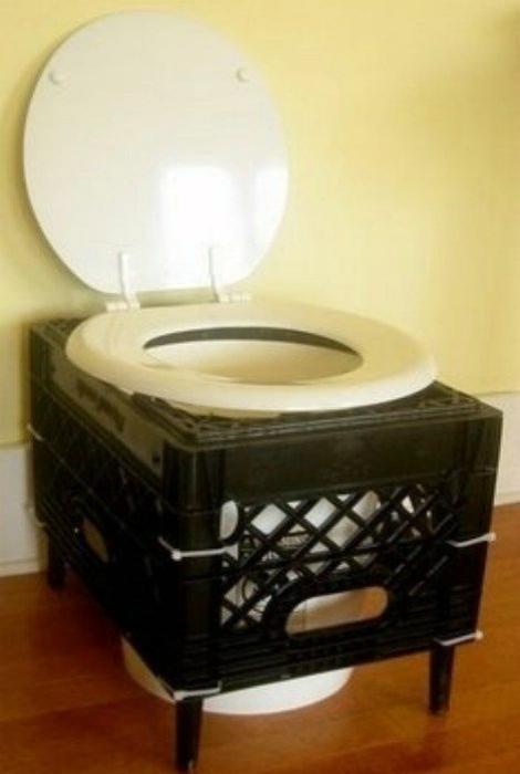 Самодельный туалет.