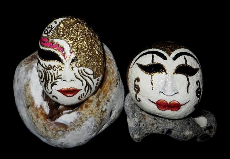 Художественная роспись камней искусство, камень, роспись