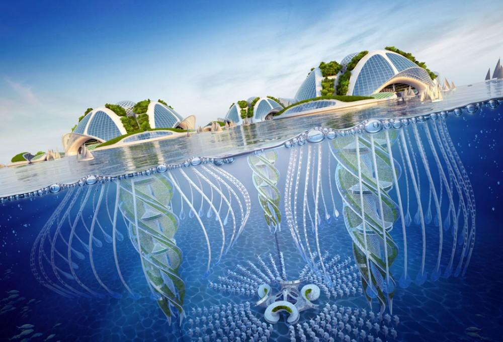 Проект поводных небоскребов из океанского мусора