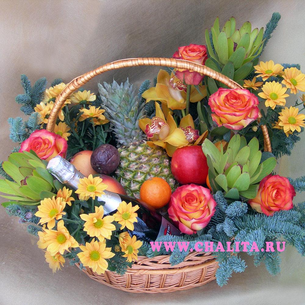 Оформляем фруктовую корзину в подарок своими руками