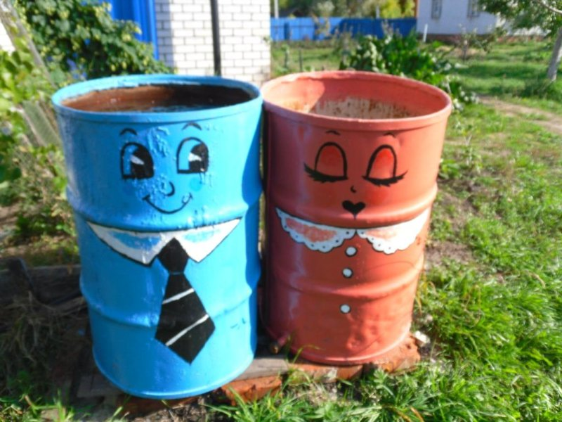 Поделки из бочек своими руками для сада и огорода фото 76