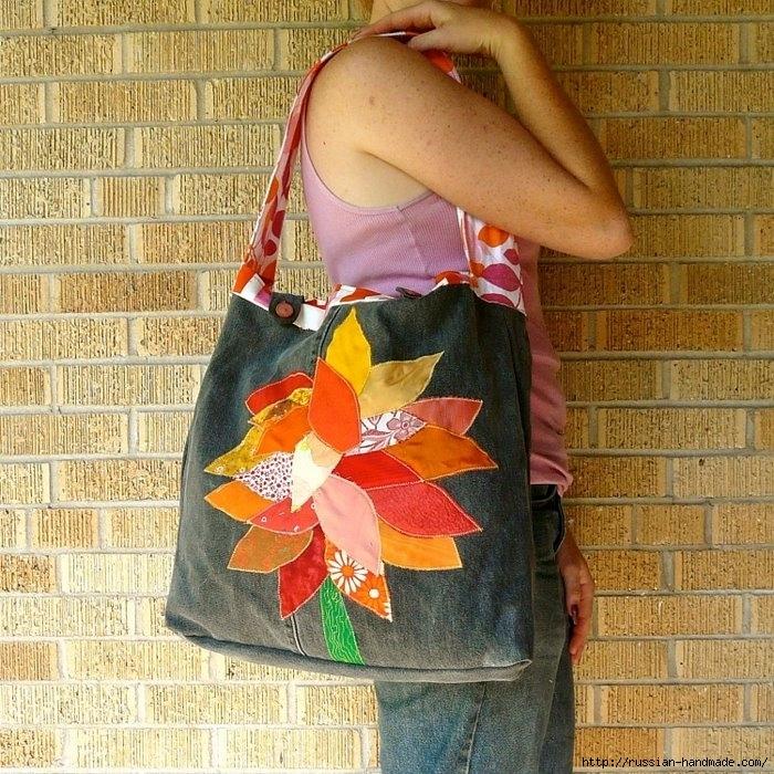 Модные сумки из старых джинсов (38) (700x700, 405Kb)