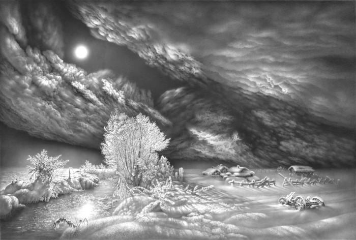 рисунки карандашом пейзажи - 10
