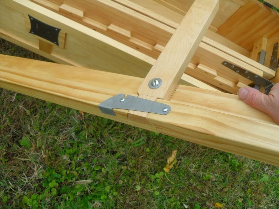 Деревянная складная кровать своими руками 23