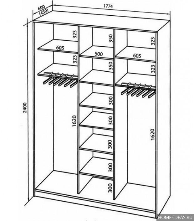 Шкаф для одежды своими руками размеры