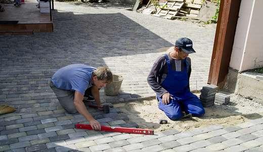 Технология ручной укладки тротуарной плитки