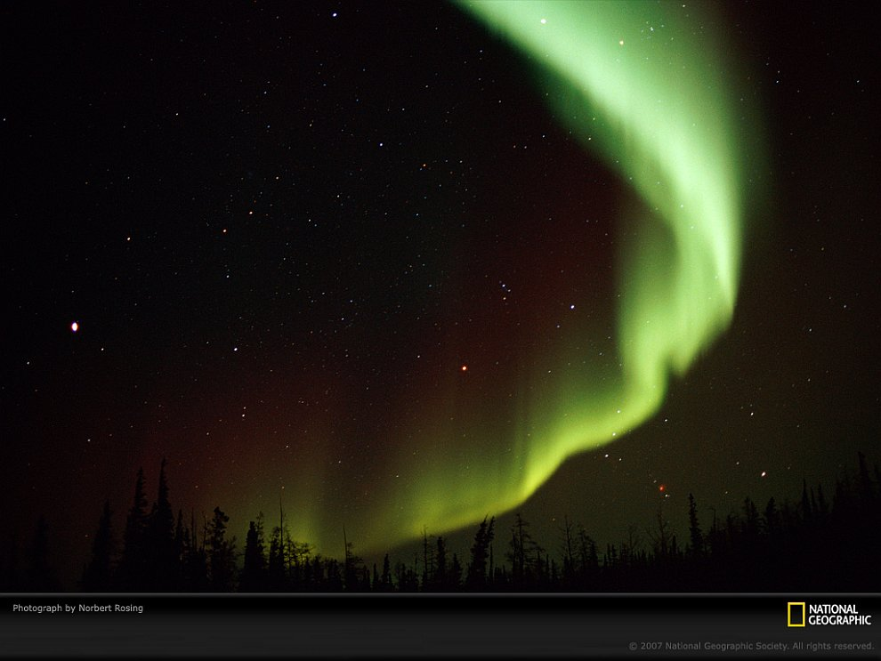 Северные сияния в Северной Америке