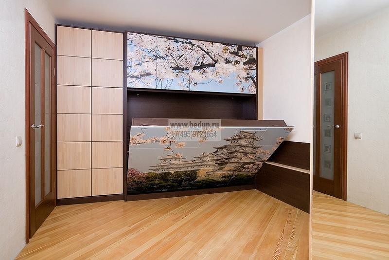 Шкаф-кровать, шкафы-кровати, шкафы-трансформеры, встроенные в шкаф-купе кровати.