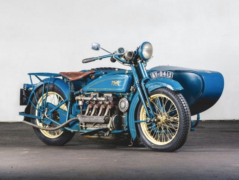 4. Henderson De Luxe Sidecar 1925 года Hershey Motor Lodge, аукцион, олдтаймер, продажа авто