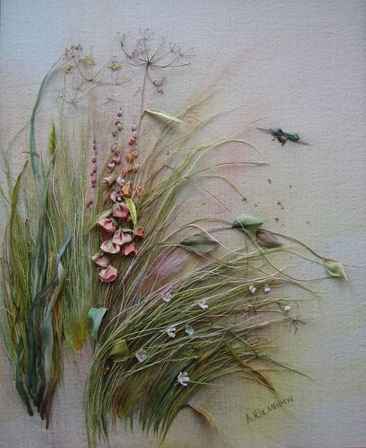 ♒ Enchanting Embroidery ♒ embroidered grasses: