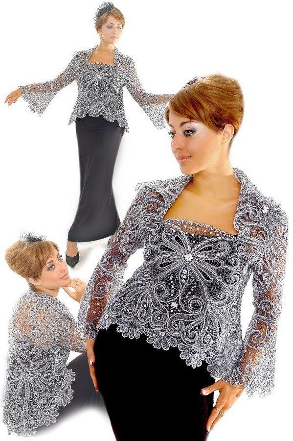 Платье с кружевной накидкой
