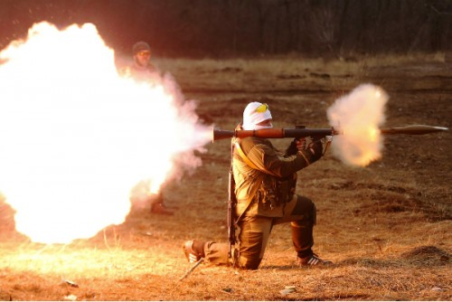 Массированный артобстрел уни…