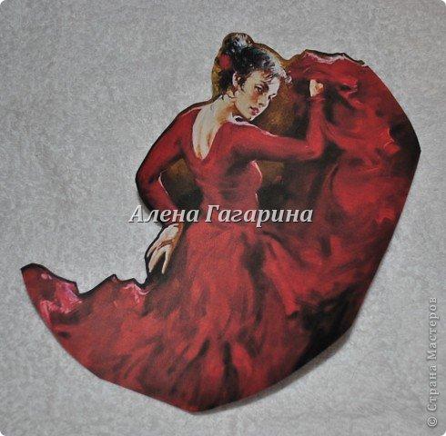 Декор предметов Мастер-класс Декупаж Тарелка Фламенко Бумага фото 4