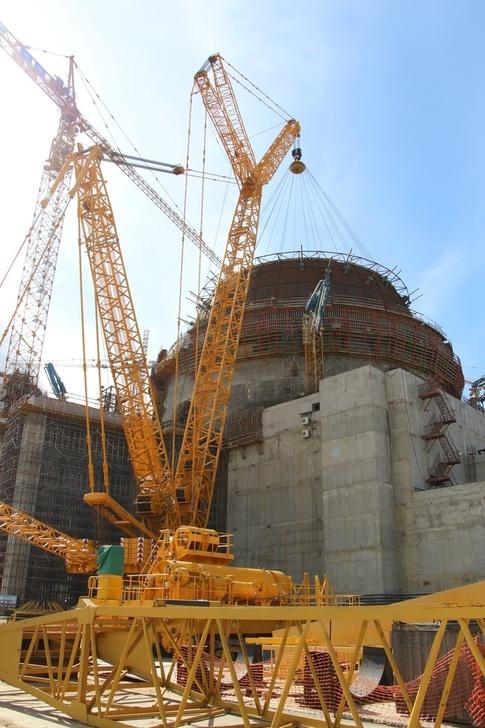 НА ЛАЭС установлен нижний ярус гермооболочки здания реактора энергоблока №2 ВВЭР-1200