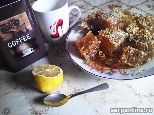 Кофе с лимоном и медом