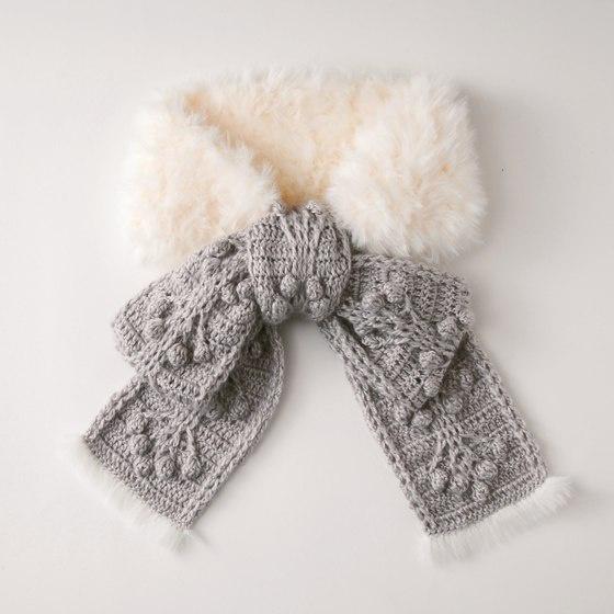 Вязано-меховой шарфик