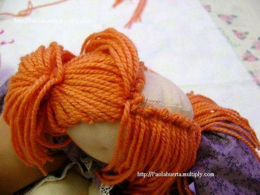 как сделать прическу кукле из ниток статья написана для